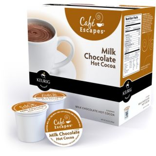 Keurig Cafe Escapes Milk Chocolate Hot Chocolate K Cups   96 pk.   Coffee Accessories