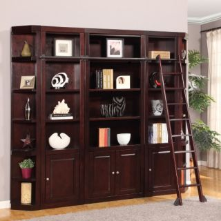 Parker House Boston Library Wall Bookcase   Merlot   Bookcases