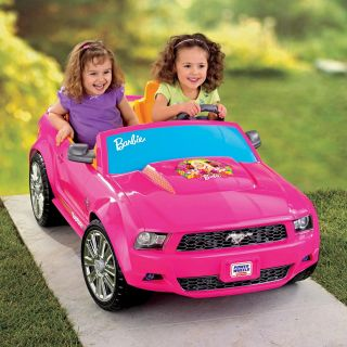 Fisher Price Battery Powered Barbie Ford Mustang   Battery Powered Riding Toys