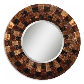 Arvada Reverse Painted Glass Wall Mirror   41.125 diam. in.   Wall Mirrors