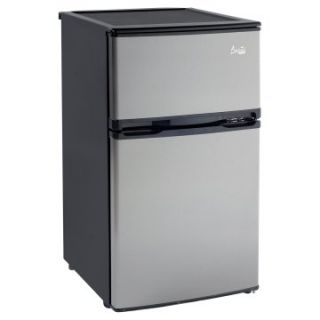 Avanti RA305SST 1 3.1 cu. ft. Two Door Counterhigh Refrigerator   Black with Stainless Steel Doors   Small Refrigerators