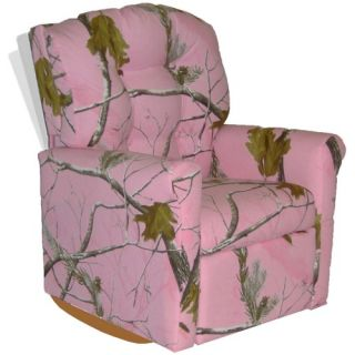 Dozydotes 4 Button Rocker Recliner   Camouflage Pink   Chairs