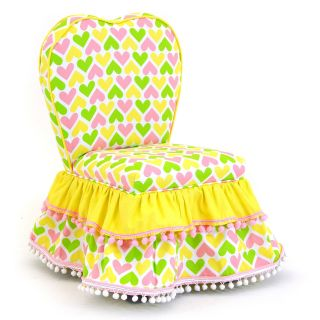 Kidz World Ann Bryan Kids Collection Sweetheart Chair   Pink/Yellow/White/Chartreuse   Specialty Chairs