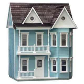Real Good Toys Finished Princess Anne Dollhouse   Blue   Collector Dollhouse Kits