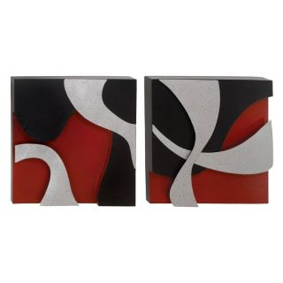 Set of 2 Abstract Metal Wall Art   24W x 24H in. ea.   Wall Sculptures and Panels