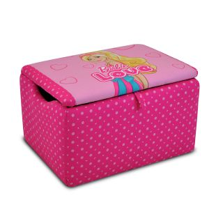 Kidz World Barbie Upholstered Storage Box   Toy Chests