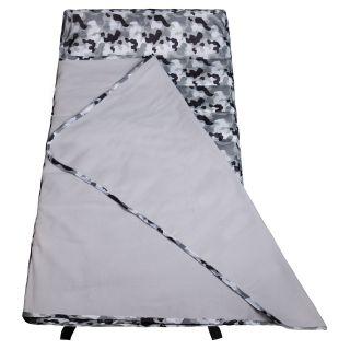Wildkin Camo Gray Easy Clean Nap Mat   Kids Sleeping Bags