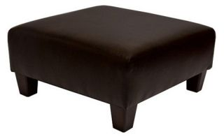 Blake Upholstered Cocktail Ottoman   Crocodile Faux Leather   Indoor Benches