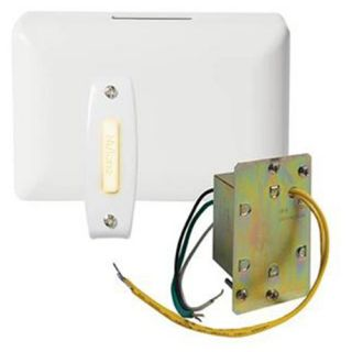 Nutone Door Chime with Polished Brass Lighted Pushbutton   Doorbells