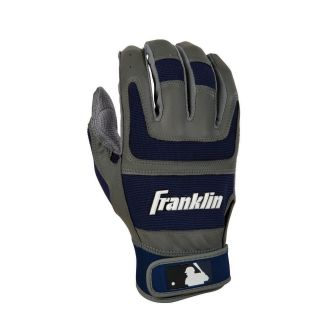 Franklin Shok Sorb Pro Series Youth Batting Gloves   Gray/Navy   Players Equipment