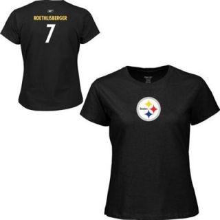 Reebok Pittsburgh Steelers Ben Roethlisberger Womens Name & Number T Shirt