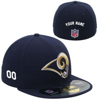 New Era St. Louis Rams Mens Customized On Field 59FIFTY Football Structured Fitted Hat