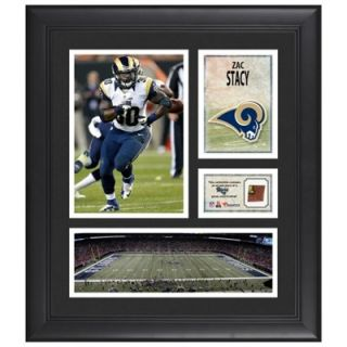Zac Stacy St. Louis Rams Framed 15 x 17 Collage with Game Used Football
