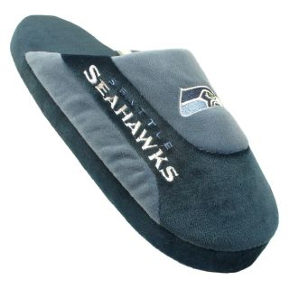 Comfy Feet NFL Low Pro Stripe Slippers   Seattle Seahawks   Mens Slippers
