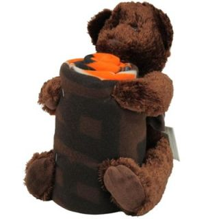 Northwest Cleveland Browns 40 x 50 Fleece Blanket with Bear