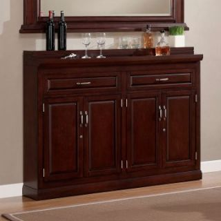 AHB Ricardo Slimline Bar Cabinet   Cherry   Home Bars