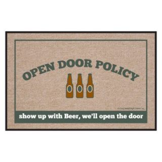 High Cotton Open Door Policy Beer Indoor / Outdoor Doormat   Outdoor Doormats