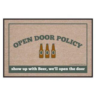 High Cotton Open Door Policy Beer Indoor / Outdoor Doormat   Outdoor Doormats