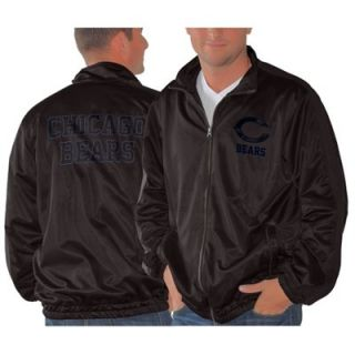 Chicago Bears Full Zip Track Jacket   Black