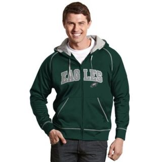 Antigua Philadelphia Eagles Resist Full Zip Hoodie   Green
