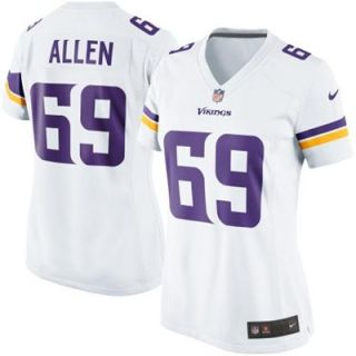 Nike Jared Allen Minnesota Vikings Womens New 2013 Game Jersey   White