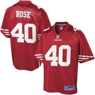 Pro Line Mens San Francisco 49ers Lowell Rose Team Color Jersey