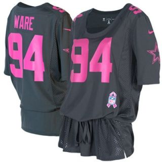 Nike DeMarcus Ware Dallas Cowboys Ladies Breast Cancer Awareness Fashion Jersey   Anthracite