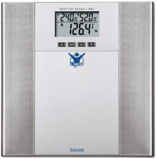 Biggest Loser Stainless Steel Body Fat Scale by Taylor   Monitors and Scales