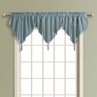 United Curtain Anna Faux Silk Ascot Valance   Valances