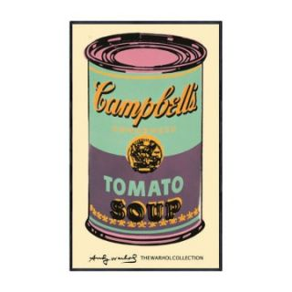 Andy Warhol   Campbells Soup Can   c. 1965   Green/Purple   40.5 x 24.5 in.   Framed Wall Art