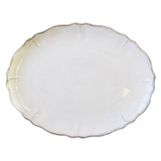 Le Cadeaux 11 in. Rustica Antique White Dinner Plate   Set of 4   Outdoor Dinnerware