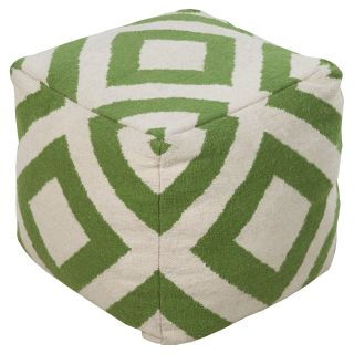 Surya 18 in. Diamond Cube Wool Pouf   Ottomans