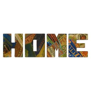 Vintage Home Sign Wall Decor   Set of 4   17W x 20H in.   Wall Sculptures and Panels