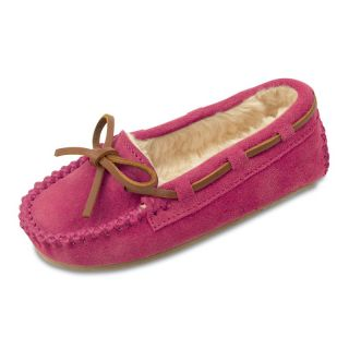 Minnetonka Childrens Cassie Slippers   Hot Pink   Kids Slippers