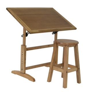 Studio Designs Antigua Table and Stool Set   Drafting & Drawing Tables