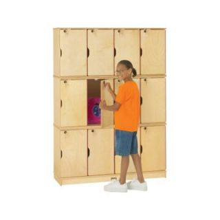 Jonti Craft Stacking Lockable Lockers   12 Sections   Triple Stack   Toy Storage