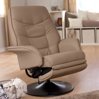 Coaster Leatherette Swivel Recliner   Recliners