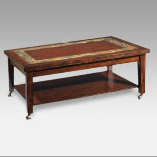 Steve Silver Davenport Slate Top Coffee Table with Locking Casters   Coffee Tables
