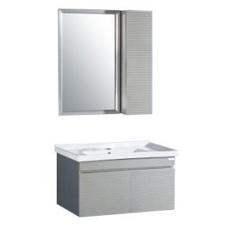 Yosemite Home Decor 31.5 in. Single Bathroom Vanity Set   Brushed Nickel   Single Sink Bathroom Vanities