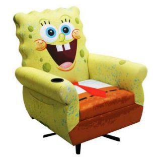Nickelodeon Spongebob Squarepants Icon Spongebob Gaming Chair   Kids Arm Chairs