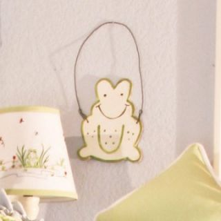 Brandee Danielle Sammy Frog White Frog Wall Hanging Wall Art   Nursery Decor