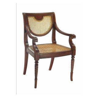 Chamberlain Twisted Leg Arm Chair   Mahogany   Dining Chairs