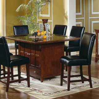 Steve Silver Serena Granite Top 5 Piece Counter Height Set   Dining Table Sets