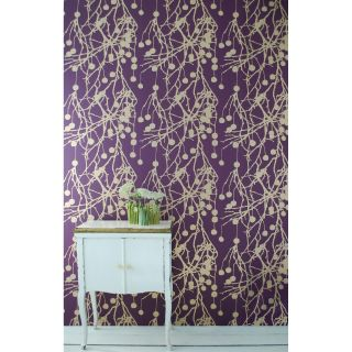 Tree Bomb Wallpaper   Purple/Gold   Modern Wallpaper