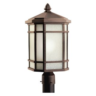 Kichler Cameron 11020PR Outdoor Post Lantern   10 in.   Prairie Rock   Outdoor Post Lighting