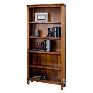 Martin Home Furnishings Point Reyes 5 Shelf Wood Bookcase   Toasted Pecan   Bookcases
