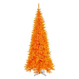 Vickerman Orange Slim Fir Pre lit Christmas Tree   Christmas Trees
