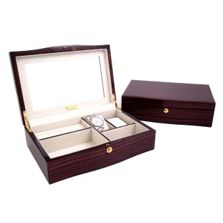 Ebony Zebra Wood Jewelry Box   11.75W x 3.25H in.   Womens Jewelry Boxes