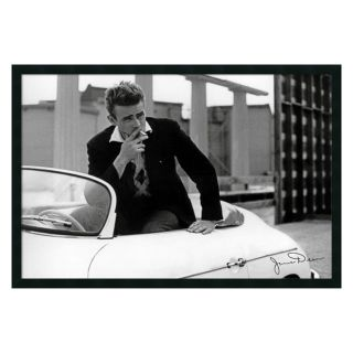 James Dean   White Car Framed Wall Art   37.41W x 25.41H in.   Photography
