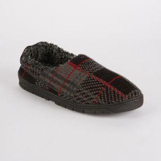 MUK LUKS Tom Plaid Full Foot Slipper   Red   Mens Slippers